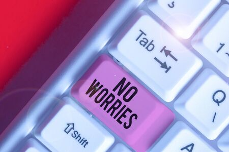 Word writing text No Worries. Business photo showcasing an expression used to say that everything is all right