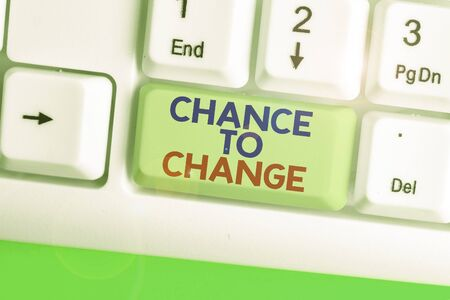 Text sign showing Chance To Change. Business photo showcasing The opportunity for transformation New Business Ideas 写真素材