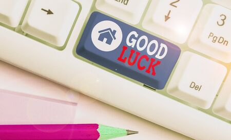 Handwriting text Good Luck. Conceptual photo wish positive fortune or happy outcome that a demonstrating can have
