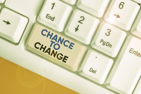 Writing note showing Chance To Change. Business concept for The opportunity for transformation New Business Ideas