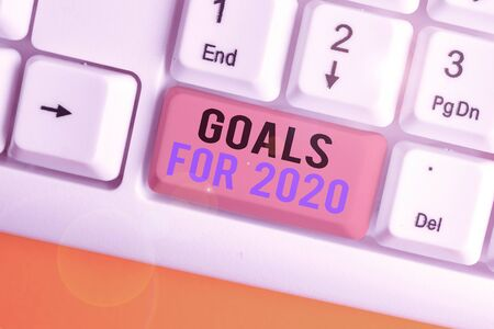 Handwriting text writing Goals For 2020. Conceptual photo The following things you want to have and achieve in 2020