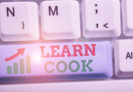 Handwriting text Learn Cook. Conceptual photo gaining knowledge or acquiring skills in culinary or food