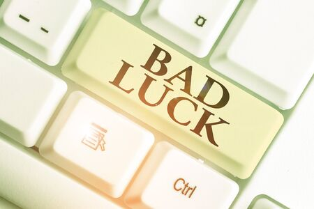 Text sign showing Bad Luck. Business photo showcasing an unfortunate state resulting from unfavorable outcomes Mischance Stock fotó