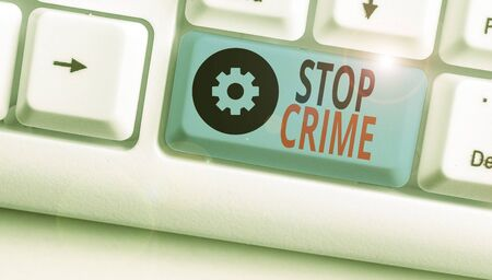 Text sign showing Stop Crime. Business photo text the effort or attempt to reduce and deter crime and criminals