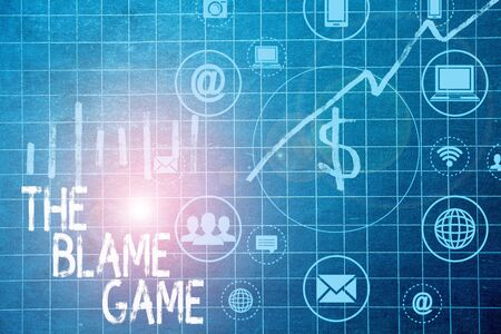 Text sign showing The Blame Game. Business photo text A situation when showing attempt to blame one another
