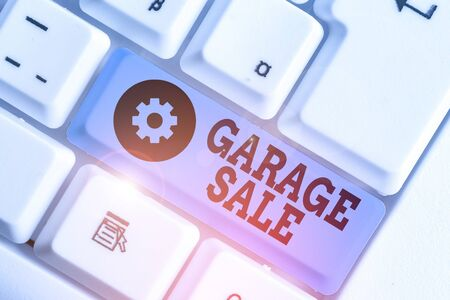 Handwriting text writing Garage Sale. Conceptual photo sale of miscellaneous household goods often held in the garage