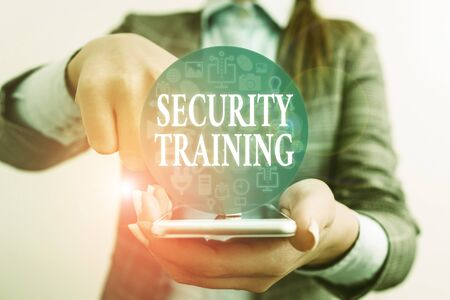 Handwriting text writing Security Training. Conceptual photo providing security awareness training for end users