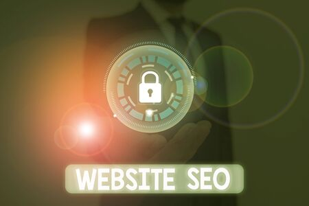 Word writing text Website Seo. Business photo showcasing tactics used to increase the amount of visitors to a website Stock Photo