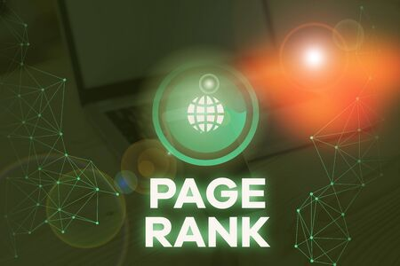Writing note showing Page Rank. Business concept for a value assigned to a web page as a measure of its popularity Stock Photo