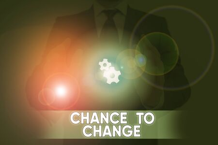 Word writing text Chance To Change. Business photo showcasing The opportunity for transformation New Business Ideas
