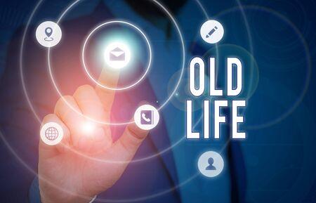 Main conceptuel écrit, indiquant l'ancienne vie. Concept signifiant la façon dont j'étais dans le passé avant qu'un changement important ne se produise Banque d'images