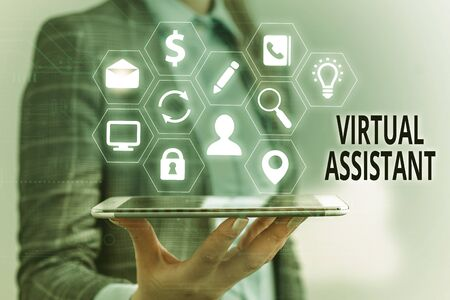 Handwriting text Virtual Assistant. Conceptual photo demonstrating who provides various services to entrepreneurs