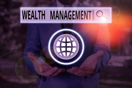Word writing text Wealth Management. Business photo showcasing perforanalysisce tracking of the funds as per regular market