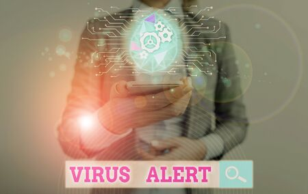 Text sign showing Virus Alert. Business photo text message warning of a nonexistent computer virus threat
