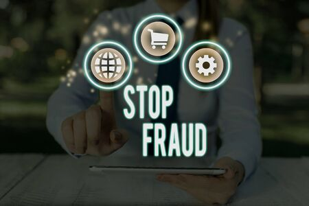 Word writing text Stop Fraud. Business photo showcasing campaign advices showing to watch out thier money transactions Фото со стока