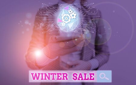 Text sign showing Winter Sale. Business photo text Discounts offered at the end of year Holiday sales lower prices