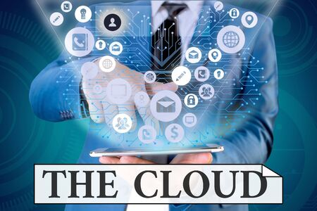 Handwriting text writing The Cloud. Conceptual photo Programs used in Storing Accessing data over the internet