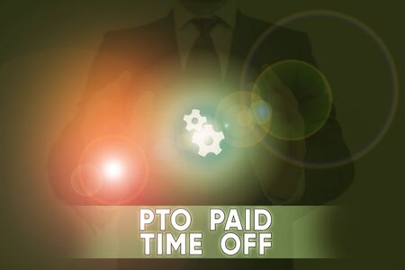 Word writing text Pto Paid Time Off. Business photo showcasing Employer grants compensation for demonstratingal holidays