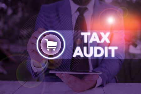 Word writing text Tax Audit. Business photo showcasing examination or verification of a business or individual tax return
