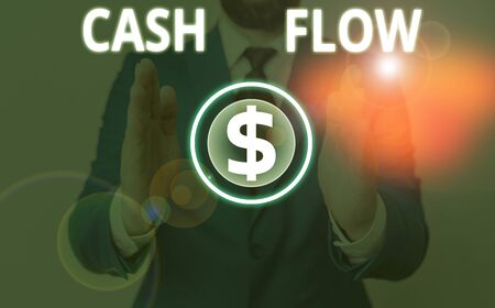 Writing note showing Cash Flow. Business concept for Movement of the money in and out affecting the liquidity