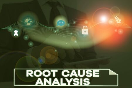 Conceptual hand writing showing Root Cause Analysis. Concept meaning Method of Problem Solving Identify Fault or Problem