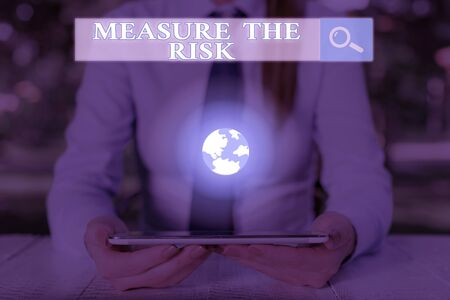 Handwriting text Measure The Risk. Conceptual photo determine degree of danger based on impact factors
