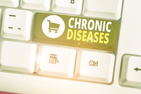 Word writing text Chronic Diseases. Business photo showcasing A disease or condition that lasts for longer time