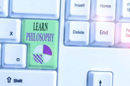 Text sign showing Learn Philosophy. Business photo showcasing learn to develop sound methods of research and analysis