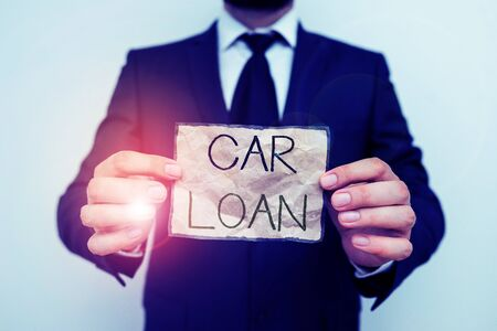 Writing note showing Car Loan. Business concept for taking money from bank with big interest to buy new vehicle Stock fotó
