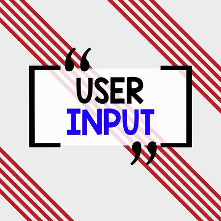 Writing note showing User Input. Business concept for Any information or data that is sent to a computer for processing Square rectangle paper sheet loaded with full creation of pattern theme