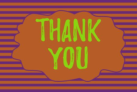 Text sign showing Thank You. Business photo text replaying on something good or greetings with pleased way Seamless horizontal lines background drawing lines. Simple wallpaper banner