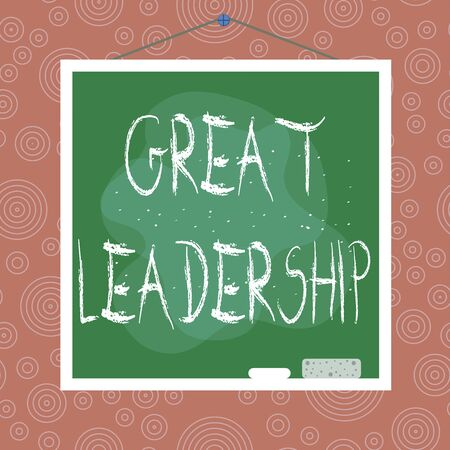 Handwriting text Great Leadership. Conceptual photo motivating showing to act towards achieving a common goal Asymmetrical uneven shaped format pattern object outline multicolour design