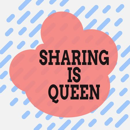 Conceptual hand writing showing Sharing Is Queen. Concept meaning giving others information or belongs is great quality Square rectangle paper sheet load with full of pattern theme
