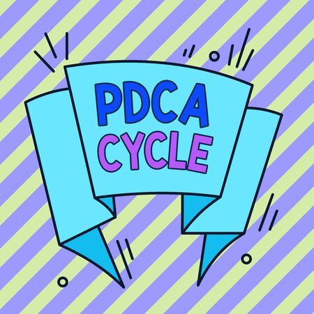 Conceptual hand writing showing Pdca Cycle. Concept meaning use to control and continue improve the processes and products Asymmetrical uneven shaped pattern object multicolour design