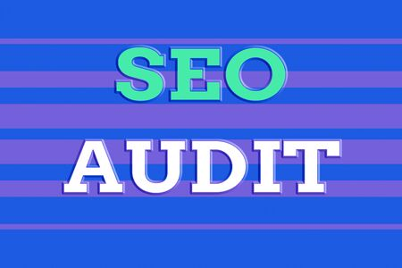 Text sign showing Seo Audit. Business photo showcasing Search Engine Optimization validating and verifying process Seamless horizontal lines background drawing lines. Up and down stripes