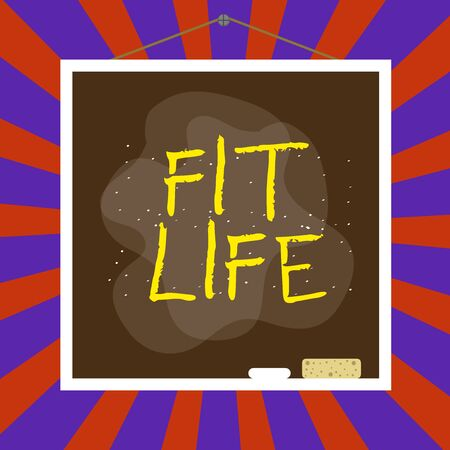 Handwriting text writing Fit Life. Conceptual photo maintaining a healthy weight with diet and exercise Healthy living Asymmetrical uneven shaped format pattern object outline multicolour design