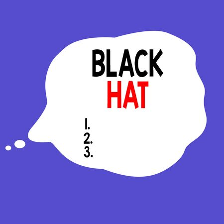 Writing note showing Black Hat. Business concept for used in reference bad demonstrating especially a villain or criminal Square rectangle paper sheet loaded with full creation of pattern theme Zdjęcie Seryjne
