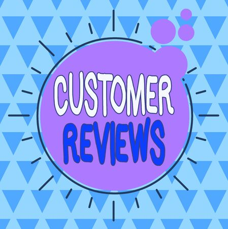 Text sign showing Customer Reviews. Business photo showcasing review of a product or service made by a customer Asymmetrical uneven shaped format pattern object outline multicolour design Stock fotó