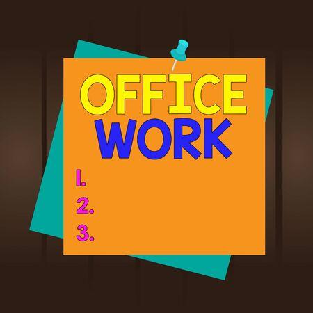 写作办公室工作的写作笔记。任何文书或行政工作的企业概念组织提醒颜色背景图钉钉备忘录Pin广场