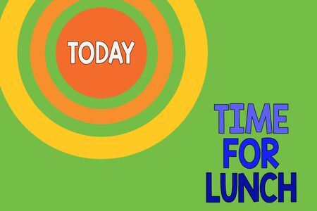 Text sign showing Time For Lunch. Business photo text Moment to have a meal Break from work Relax eat drink rest Dotted tunnel simulating sun shining. Abstract futuristic. Comic Background Stock fotó