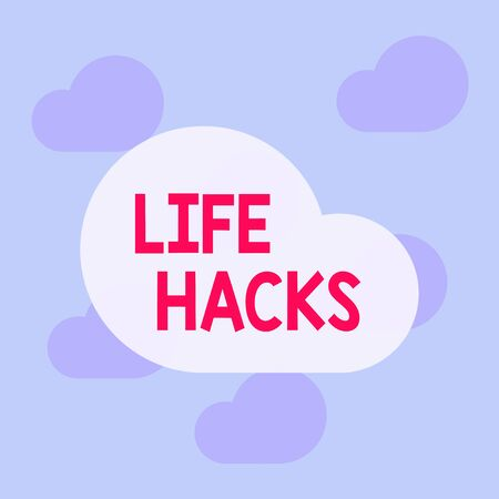 Text sign showing Life Hacks. Business photo text Strategy technique to analysisage daily activities more efficiently Square rectangle paper sheet loaded with full creation of pattern theme