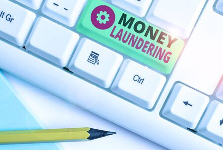 Word writing text Money Laundering. Business photo showcasing concealment of the origins of illegally obtained money