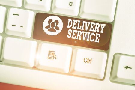 Handwriting text writing Delivery Service. Conceptual photo the act of providing a delivery services to customers