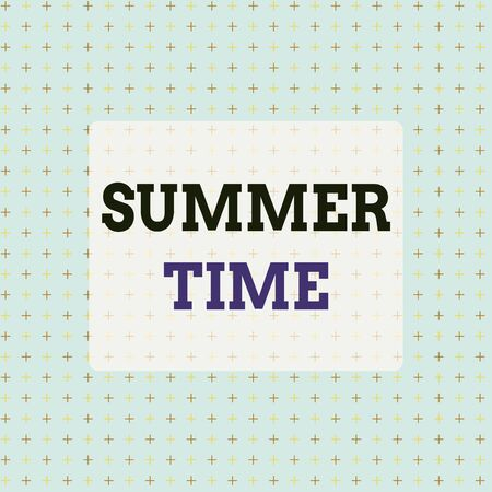 Conceptual hand writing showing Summer Time. Concept meaning warmest season of the year Summer season or period like summer Infinite Endless Aligned Two Tone CrossStitch Plus Sign Pattern Stock fotó