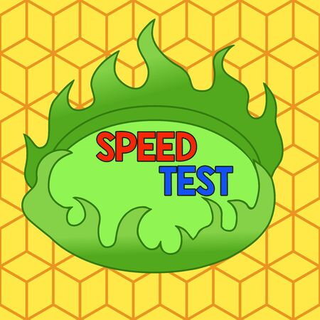Word writing text Speed Test. Business photo showcasing psychological test for the maximum speed of performing a task Asymmetrical uneven shaped format pattern object outline multicolour design