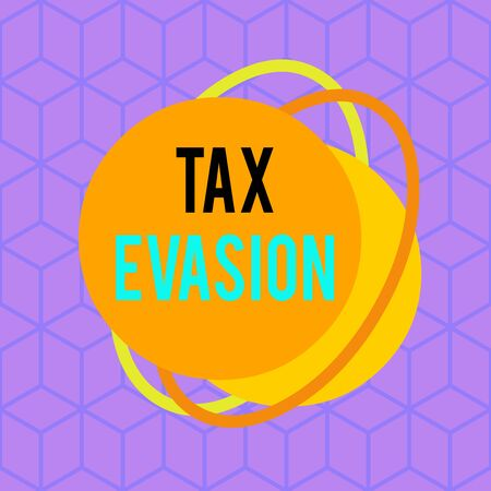 Conceptual hand writing showing Tax Evasion. Concept meaning the failure to pay or the deliberate underpayment of taxes Asymmetrical format pattern object outline multicolor design 스톡 콘텐츠