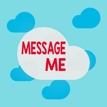 Text sign showing Message Me. Business photo text To ask someone to send you a short text from one mobile device Square rectangle paper sheet loaded with full creation of pattern theme