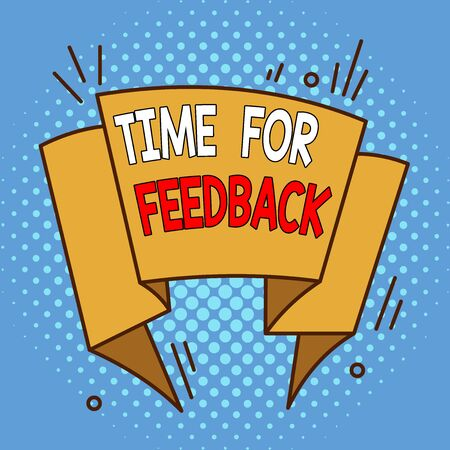 Word writing text Time For Feedback. Business photo showcasing Need to response or give critic on something Evaluation Asymmetrical uneven shaped format pattern object outline multicolour design 版權商用圖片