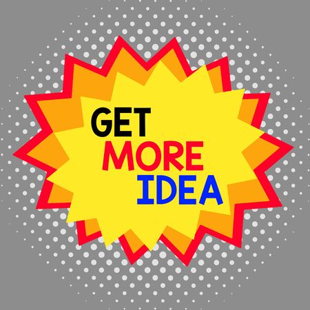 Word writing text Get More Idea. Business photo showcasing Random Input Mind Map Picture Mock up Surveys Visualization Asymmetrical uneven shaped format pattern object outline multicolour design Reklamní fotografie