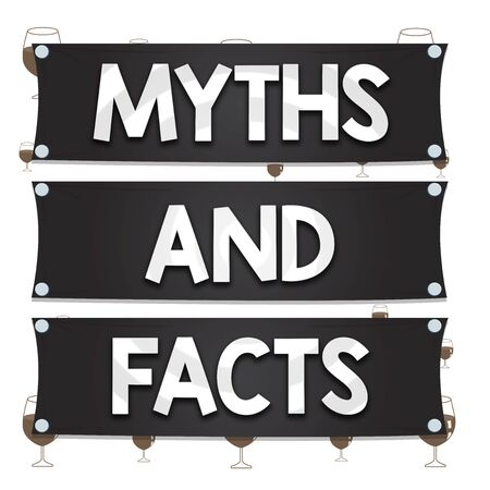 Text sign showing Myths And Facts. Business photo text Oppositive concept about modern and ancient period Wooden panel attached nail colorful background rectangle lumber plank wood Stock Photo